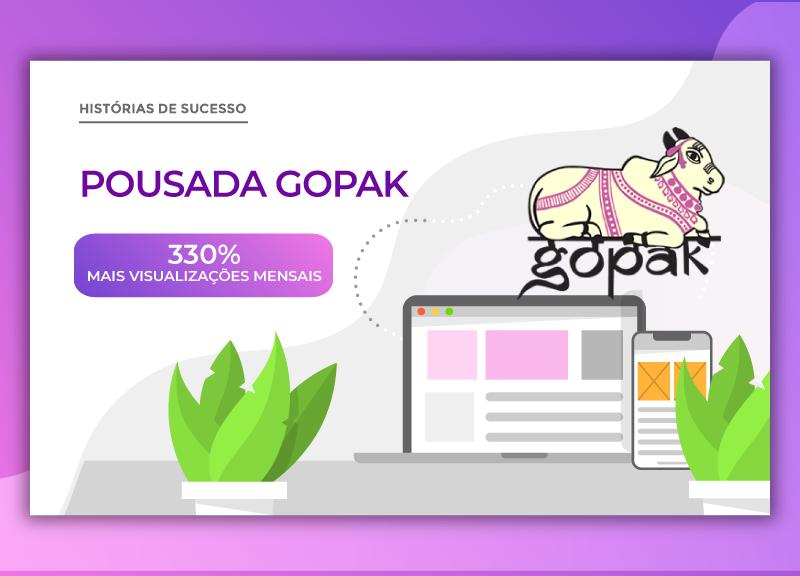 Como a Pousada Gopak aumentou seu tráfego orgânico e ampliou em 28% suas oportunidades de reservas diretas com a ajuda da HotelariaWeb